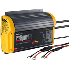 PROMARINER ProSport 12 PFC Gen 3 Heavy Duty Recreational Series On%2DBoard Marine Battery Charger %2D12 Amp %2D2 Bank