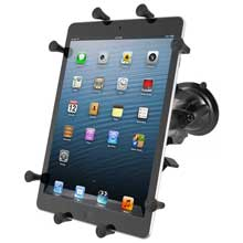 RAM Twist Lock Suction Cup Mount with Universal X-Grip Cradle for 10 inch Large Tablets