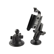 RAM Twist Lock Suction Cup Mount with extra Round Base for Approach G5, Oregon series