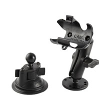 RAM Twist Lock Suction Cup Mount with extra Round Base for Approach Dakota