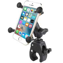 RAM Small Tough-Claw Base with Short Double Socket Arm and Universal X-Grip Cell/iPhone Cradle