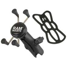 RAM Mount Universal X-Grip Cell Phone Cradle w/Double Socket Arm
