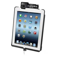 RAM Mount DOCK-N-LOCK sync, lock cradle f/4th generation Apple iPad w/lighting connector, w/o case