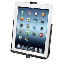 RAM Mount EZ-ROLLr sync cradle f/4th generation Apple iPad w/lightning connector, w/o case