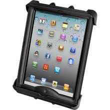 RAM Mount tab-lock universal locking cradle for Apple iPad with lifeproof, lifedge cases