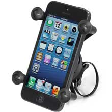 RAM Mount EZ-ON,OFF bicycle mount with universal X-Grip cell phone holder