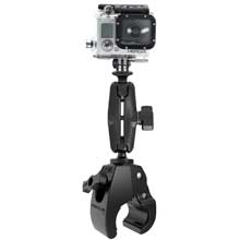 RAM Mount medium tough-claw mount with custom GoPro hero adapter