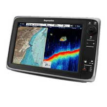 RAYMARINE C127 MFD and Sonar w and C%2DMap ROW Essentials