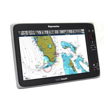 RAYMARINE E165 15.4 inch HybridTouch Multi-Function Display, with Coastal US Charts
