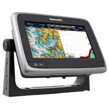 RAYMARINE a77 MFD and Sonar w and C%2DMap ROW Charts