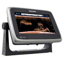 RAYMARINE A78 MFD and DVSonar w and Lighthouse Charts