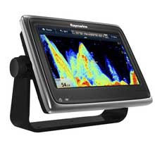 RAYMARINE a97 MFD and Sonar w and C%2DMap ROW Charts