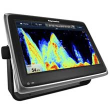 RAYMARINE A127 MFD and Sonar w and C%2DMap US Charts