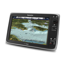 RAYMARINE E125 12 inch HybridTouch Multi-Function Display, with U.S. Coastal Charts