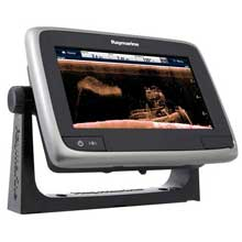 RAYMARINE A78 Wi%2DFi 7inch MFD with CHIRP Downvison ClearPulse and CPT%2D100 Navionics North America Gold