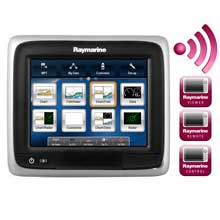 RAYMARINE A65 57 inch MFD Touchscreen Display w and Wi%2DFi %2D Lighthouse Navigation Charts %2D NOAA Vector