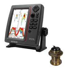 SI%2DTEX SVS%2D760 Dual Frequency Sounder 600W Kit w and Bronze 12 Degree Transducer