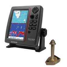 SI%2DTEX Dual Frequency Chartplotter and Sounder w and Navionics Flexible Coverage and 1700 and 50 and 200T%2DCX Transducer