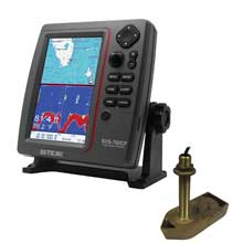 SI-TEX SVS-760CF Dual Frequency Chartplotter/Sounder w/ Navionics,Flexible Coverage and 307/50/200T 8P Transducer