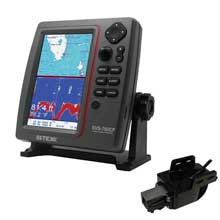 SI%2DTEX SVS%2D760CF Dual Frequency Chartplotter Sounder w and Navionics Flexible Coverage and Transom Mount Triducer