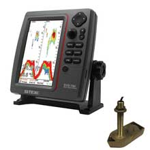 SI%2DTEX SVS%2D760 Dual Frequency Sounder 600W Kit w and Bronze Thru%2DHull Temp Transducer %2D 307 and 50 and 200T%2DCX