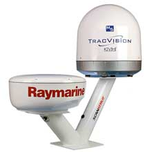 SCANSTRUT Dual PowerTower. Satcom 40cm, Raymarine and Garmin 2kW, 4kW domes