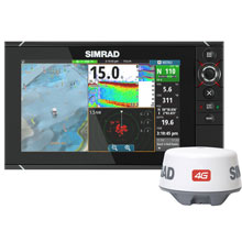 SIMRAD NSS12 EVO2 Insight w and 4G Radar Bundle