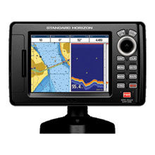 Standard Horizon 5inch LCD Combo C%2DMap 50 and 200KHz Int GPS