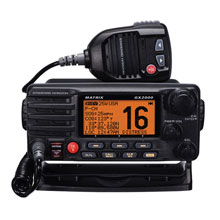 STANDARD HORIZON VHF Matrix w and Hailer Opt Remote Black