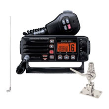 STANDARD HORIZON VHF Eclipse DSC and blk 8ft Ant SS Mount