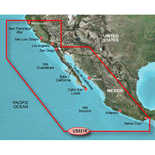 GARMIN California-Mexico, (HXUS021R), BlueChart g2 HD map on SD card