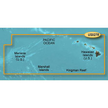 GARMIN Hawaiian Islands-Mariana Islands, (HXUS027R), BlueChart g2 HD map on SD card
