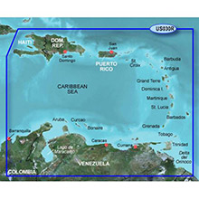 GARMIN Southeast Caribbean, (HUS030R), BlueChart g2 map on Datacard