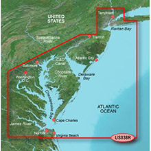 GARMIN US, New York to Chesepeake, (VUS038R) BlueChart g2 Vision HD map