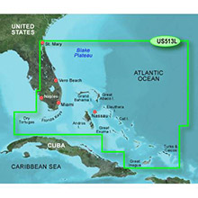 GARMIN Jacksonville - Bahamas, (HXUS513L), BlueChart g2 HD map on SD card