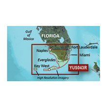 GARMIN Florida Everglades and Keys, (YUS043R), BlueChart g2 HD map with High Res Satellite Imagery on SD card