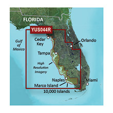 GARMIN Florida Gulf Coast, (YUS044R), BlueChart g2 HD map with High Res Satellite Imagery on SD card