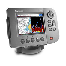 RAYMARINE A57D Chartplotter, Fishfinder with Transducer, US coast