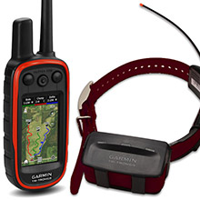 GARMIN Alpha 100 and Burgundy TT 10 Dog Tracking and Training Bundle, 90 day wty
