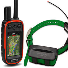 GARMIN Alpha 100 and Dark Green TT 10 Dog Tracking and Training Bundle, 90 day wty