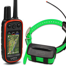 GARMIN Alpha 100 and Light Green TT 10 Dog Tracking and Training Bundle, 90 day wty