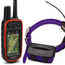 GARMIN Alpha 100 and Purple TT 10 Dog Tracking and Training Bundle, 90 day wty