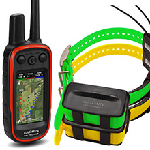 GARMIN Alpha 100 and 2 x TT 10 Dog Tracking and Training Collars 90 day wty