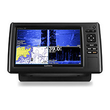 GARMIN EchoMAP CHIRP 93sv with ClearVu and SideVu Transducer