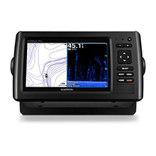 GARMIN EchoMAP CHIRP 75dv with DownVu Transducer and LakeVu HD maps for Canada