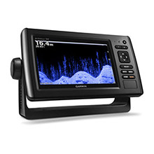 GARMIN EchoMAP CHIRP 75sv with DownVu and SideVu Transducer and LakeVu HD maps for Canada
