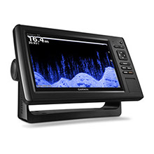GARMIN EchoMAP CHIRP 95sv with DownVu and SideVu Transducer and lakeVu maps for Canada