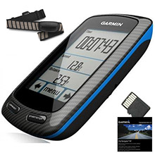 GARMIN Edge 800 Black and Blue Bundle with HRM and Street maps
