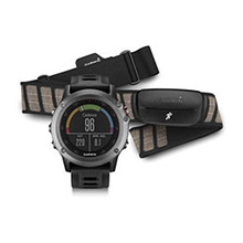 GARMIN Fenix 3 Gray with Black Band and HRM%2DRUN
