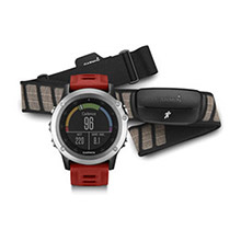 GARMIN Fenix 3 Silver with Red Band and HRM-RUN